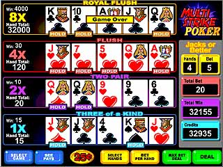 Multistrike Video Poker