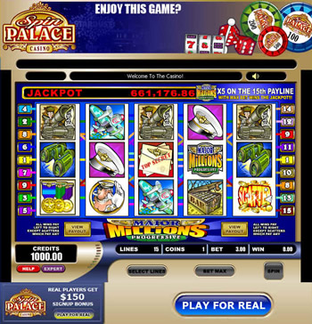 Win big jackpots at Spin Palace