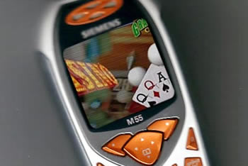 Cell phone gambling has arrived